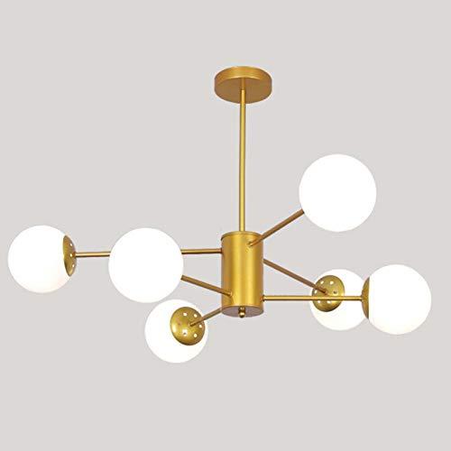 Lámpara De Araña LED De La Rama De Frijol Mágico Nórdico,Salón Comedor Dormitorio Establecer Luz-Shakin 6