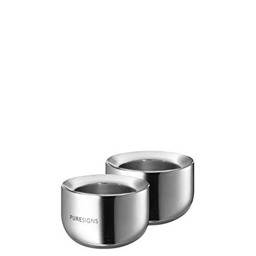 Puresigns BREEZE Teelichthalter Edelstahl Poliert 2 Stück