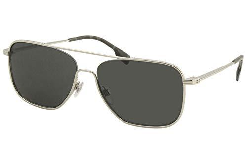 Burberry BE3112 BE/3112 1005/87 - Gafas de sol cuadradas, 59 mm, color plateado