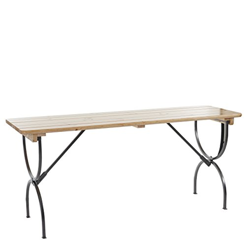 Mendler Table de Jardin LINZ, Table de gastronomie, Brasserie, laqué - 180 cm