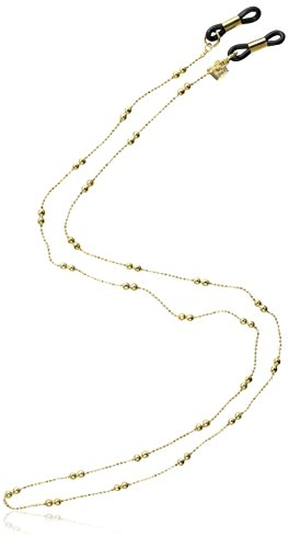 Corinne McCormack Women's Double Ball & Chain Square Eyeglass Leash, Gold, One Size