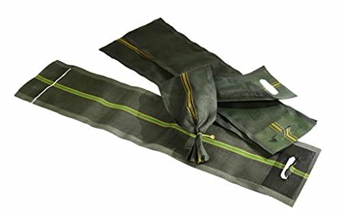 AGRI plus Silosandsäcke mit Griff/Griffloch inklusive Drahtverschluss - für Silo und Hochwasserschutz (10, 250x800/1000mm)