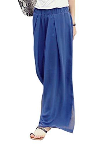 HX fashion Culotte Dames Zomer Casual Broek Comfortabele Maten Elegante Mode Losse Casual Lange Broek Effen Kleur Middelhoge Taille Elastische Taille Rok Wijde Pijpen Broek