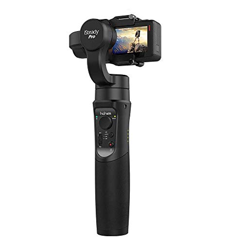Hohem iSteady Pro, 3-Axis Handheld GoPro Gimbal Stabilizer for GoPro Hero 7 6 5 4 3, Yi 4K Action Camera, Sony RX0, SJCAM, 12h Run-Time, APP Controls for Time-Lapse, Tracking, Auto Panoramas