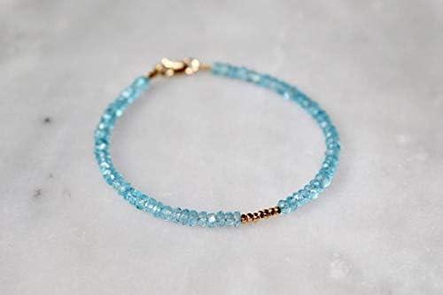 sale LOVEKUSH Aquamarine Bargain Bracelet Meaning with Spiritual