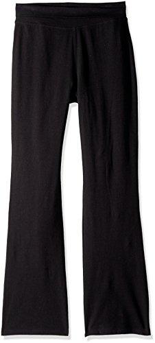 The Children's Place girls Uniform Active Foldover Waist Pants, Black, 14 US