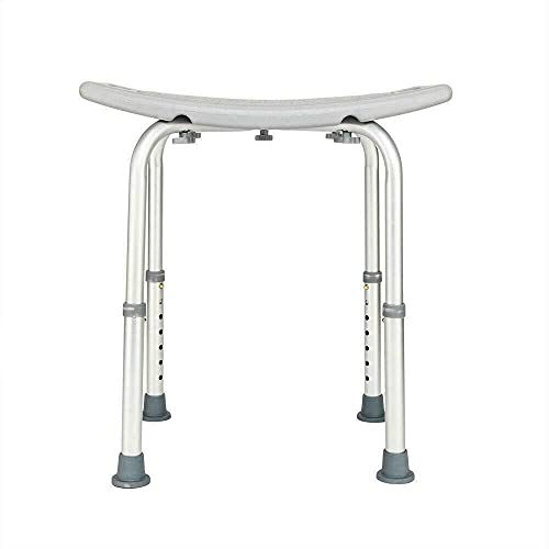 DFGH Medical Shower Bath Chair Adjustable 7 Height Bench Stool Seat Gray