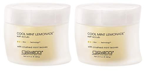 Giovanni Salt Scrub, Cool Mint Lemonade, 9 oz (260 g) by Giovanni Cosmetics, Inc.