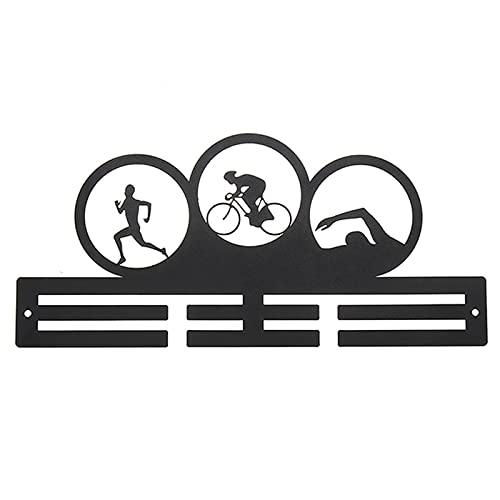 Soporte de exhibición de la medalla Ejecución de medallas deportivas Pantalla Perspectiva de medalla para medallas para medallas Decoración Percha de la medalla ( Color : Black , Size : Man pattern )
