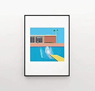 Pretty Shine A Bigger Splash by David Hockney Modern Funny Poster Gift for Men Woman Poster Home Art Wall Posters [No Framed]