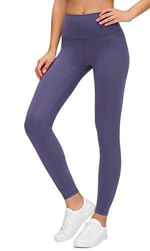 Lavento Leggins tobilleros para mujer, cintura alta, control de barriga, pantalones de yoga -  Gris -  4 US