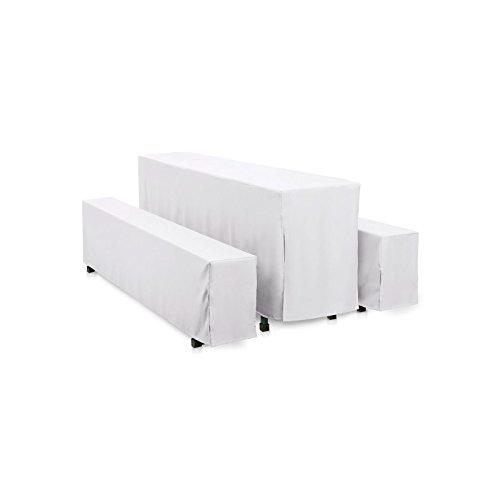 Hans-Textil-Shop Hussen-Set 220x50 cm Weiß Baumwolle