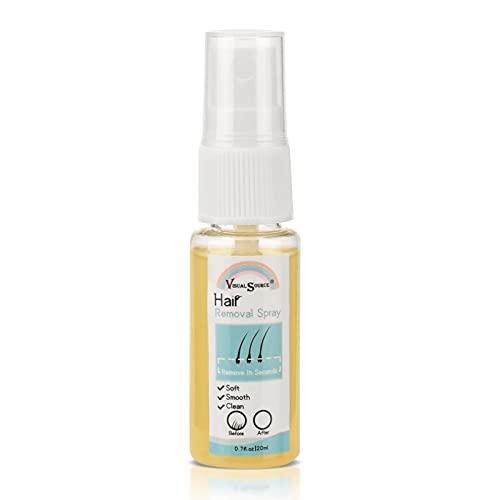 Montloxs Spray depilatorio indoloro spray depilatorio 20ml spray líquido depilatorio no irritante y agradable para la piel para mujeres y hombres