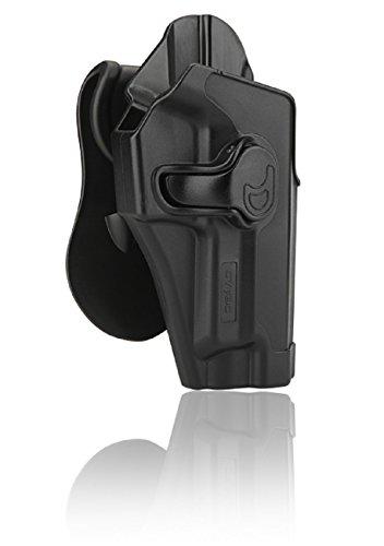 Cytac Hi-Tech Hartschalen Holster für Sig Sauer P220, P225, P226, P228, P229 Paddle mit Silicon-Schicht, Neigungswinkel 360° Verstellbar aus Kunststoff Rechte Hand