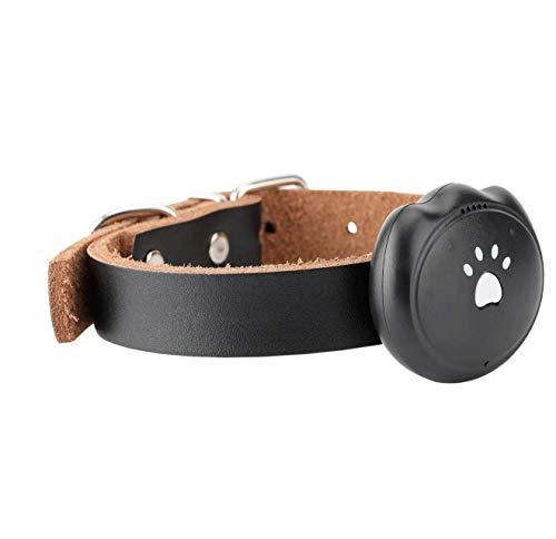 GBY huisdier GPS-lokator, Pet Tracker kraag, geschikt voor grote honden en kleine dieren, super duurzaamheid, waterdichte spooropvrag, anti-Lost-locator, katten- en hondenhalsband GPS-huisdier-locator, size, zwart