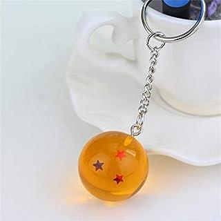 ZMINXIA - Llaveros con diseño de dragón de anime con 7 estrellas y bolas de 2,7 cm de PVC, figuras de juguetes llavero (1 estrella), 3 estrellas.