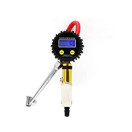 TERMALY Medidor de Presión de Neumáticos Manómetro Digital de Presión de Neumáticos de Servicio Pesado Manómetro de Presión de Aire de Pistola de Aire con Conector Rápido