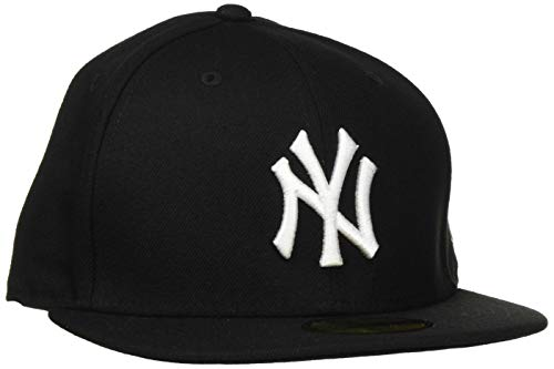New Era Baseball Gorra de Ciclismo para Hombre, Negro (Anthracite/ Black), 7 3/8 inch