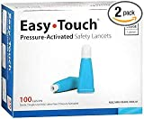 Easy Touch Pressure-Activated Safety Lancets 30 Gauge - 100 ct, Pack of 2