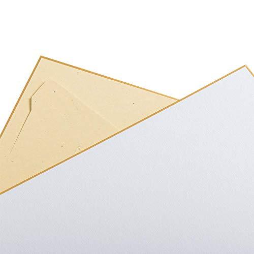 Luma Presents Shikishi+ - Cartón de dibujo (273 x 242 mm, 3 unidades, con soporte integrado, fabricado en Japón)