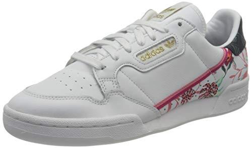 adidas Continental 80 W, Zapatillas Deportivas Mujer, FTWR White Bold Pink Gold Met, 38 EU