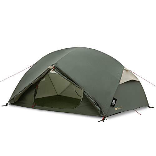 Qeedo Light Birch 2 Trekkingzelt, kleines Packmaß (48 x 16 cm), leicht (2,88 kg) - 2 Personen Campingzelt, windstabil