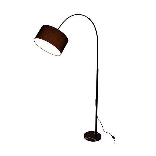 LY88 Licht Vloerlamp, Gebogen Staande Lamp Indoor Verlichting 1.75m Iron Vloerlamp Voor Slaapkamer & Woonkamer Amerikaanse Gooseneck Vloerlamp Afstandsbediening Schakelaar Dimbare kleur : Zwart, Maat : Drukknopschakelaar