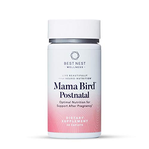 Mama Bird Postnatal Multi+, Once Daily, Whole Food Organic Blend, L-Methylfolate (Folic Acid), Methylcobalamin (B12), Natural Vitamin, Immune Support, 30 Ct, Best Nest Wellness
