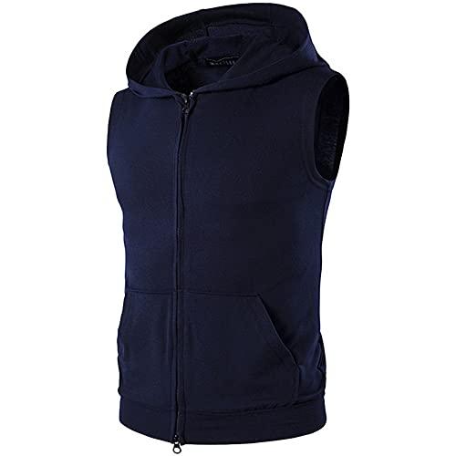 Sudadera con capucha de algodón con capucha para entrenamiento, chaleco de fitness para hombre ⭐