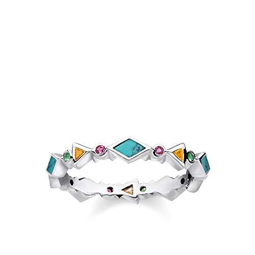 THOMAS SABO Damen Ring Farbige Steine 925er Sterlingsilber TR2229-984-7