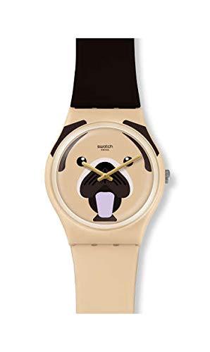 Swatch Reloj Analógico para Unisex Adultos de con Correa en Silicona GT109