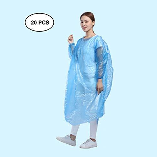 Fantastic Deal! Lgan 20PCS Rain Poncho for Adults, Clear Raincoats with Hood Disposable Rain Coats f...