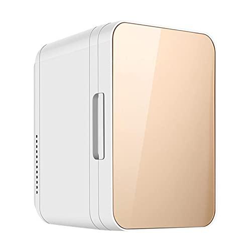 Mini refrigerador silencioso 8 l para automóvil, mini refrigerador compacto, refrigerador belleza, alimentos portátiles, medicamentos, almacenamiento maquillaje, enfriador, calentador, una sola puert