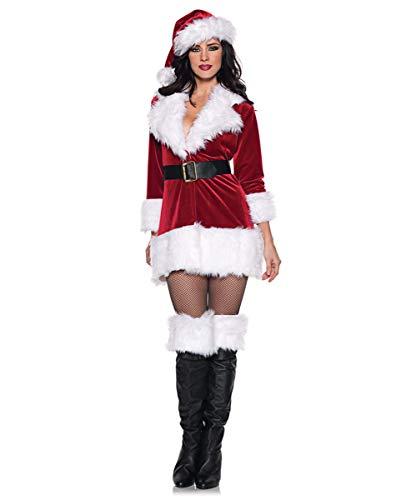 Horror-Shop Sexy Miss Santa Claus Kostüm für Weihnachten & Fasching XL
