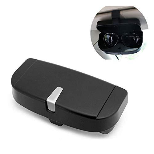 Qiajie Estuche de Gafas de Sol portátil para Coche Gafas de Coche universales Soporte de Almacenamiento Clip Organizador Caja para Accesorios de automóvil