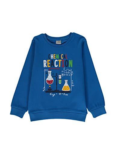 Camiseta de algodón estampada para niño azul 8-9 Años