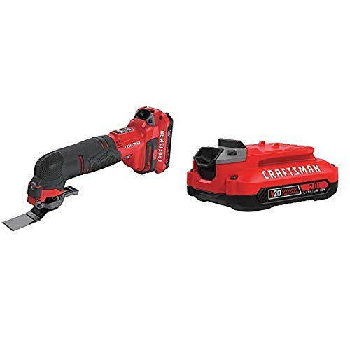 Review CRAFTSMAN V20 Oscillating Tool Cordless Kit with EXTRA Lithium Ion Battery, 2.0-Amp Hour (CMC...