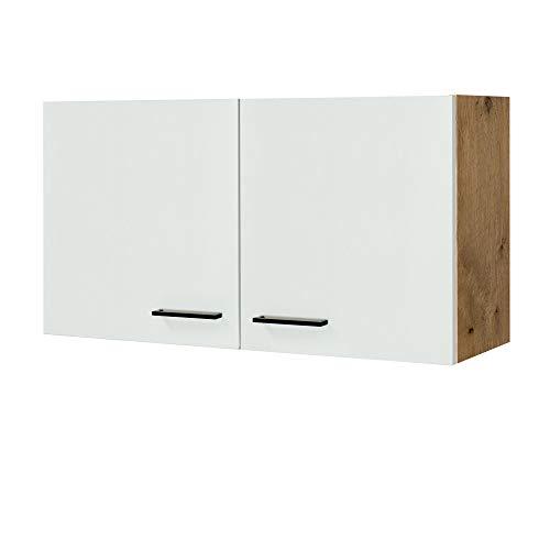 MMR Küchen-Hängeschrank GLASGOW - Küchenschrank - Oberschrank - 2-türig - 100 cm breit - Creme Matt