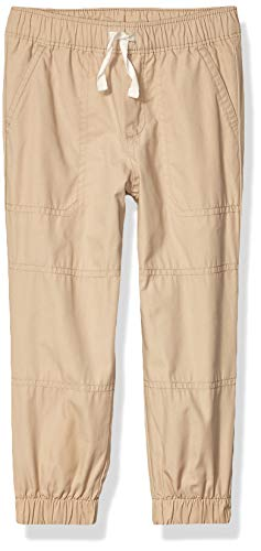 Spotted Zebra Woven Lined Jogger athletic-pants, khaki, Small (6-7)