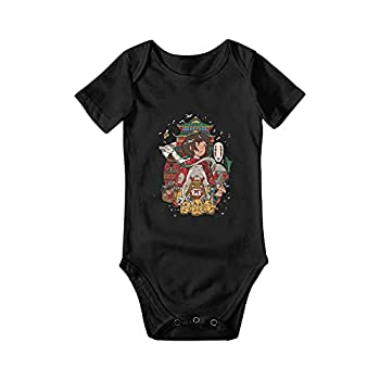 Spirited Away Baby Onesies Newborn Toddler Short Sleeve Jumpsuit Short Sleeve Bodysuits Infant Cartoons Onesies for Boy Girl