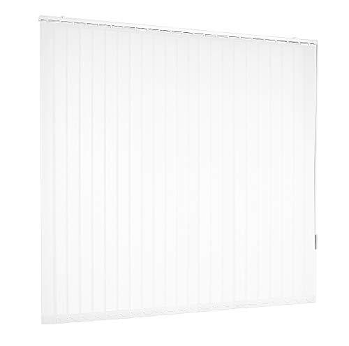 Lamellenvorhang Vertikaljalousie Weiß Lamellen Fenster Rollo Breite 100 bis 250 cm Länge 150 bis 250 cm Vorhang Flächenvorhang Schiebevorhang Streifenvorhang blickdicht halbtransparent (250 x 150 cm)