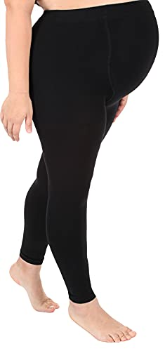 ABSOLUTE SUPPORT - Made in USA - Graduated Opaque Footless Compression Pantyhose 20-30mmHg - Firm Compression Tights for Circulation - High Waist Support Stockings Hose - Black, Small