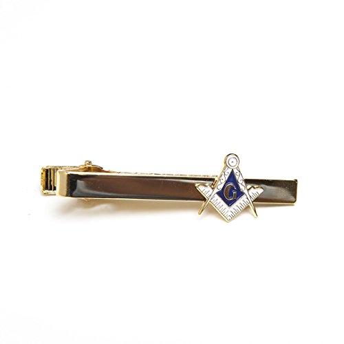 FREEMASON Masons Masonic Gold Tone Tie Bar Clip