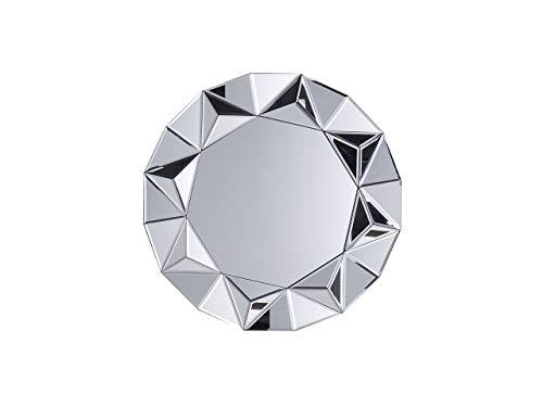 Beliani Wandspiegel im Glamour Stil rund Dia. 70 cm Silber Habay