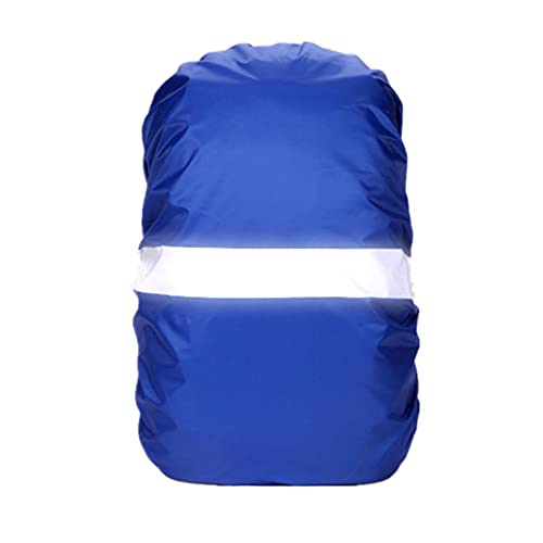 Ducomi - Funda Impermeable para Mochila de Alta Visibilidad, Resistente al Agua, para Acampar al Aire Libre, Senderismo, Montañismo, Escalada, Apto para Hombres, Mujeres, Niños - (Azul, M)