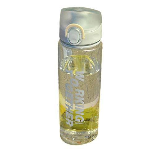 Filter Wasserflasche Bouncing Cover Sport Kunststoff Auslaufsicherer Wasserkocher Student Tragbarer Wasserkocher Transparenter Kaffee Tee Wasserflasche