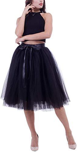 Tutu tule rok voor dames, mesh rok mini elegante tule rok voor bruiloft met riem (meerlaags)