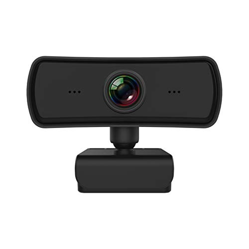 SUNMM Webcam 2K con micrófono PC Laptop Desktop Cámara Web con Clip Giratorio para videollamadas, Juegos, transmisión en Vivo y conferencias