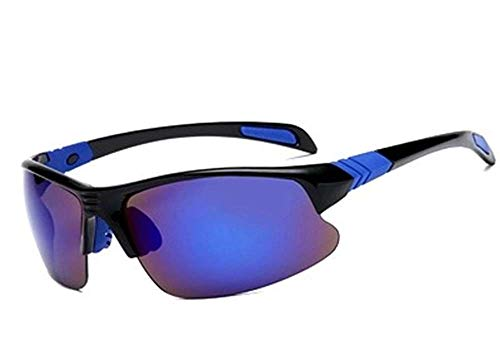 Tyke uv protection Sports Sunglasses for men's/womens Cycling/bike/biking/mountain bike(mtb) fishing golf motorcycle bicycle running sport polarized glasses for men/women (Black & Blue)