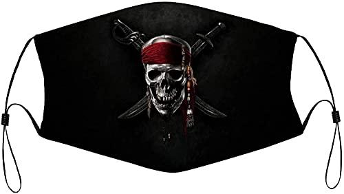 Mascarillas faciales reutilizables piratas del Caribe, lavable,...